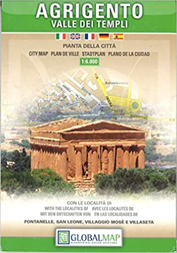 Agrigento Italy Map.Agrigento And The Valley Of The Temples Italy City Map English