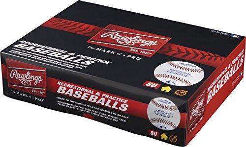 Rawlings Youth 8U Recreational Baseballs, (Box of 12), R8U-TPK12 by Rawlings