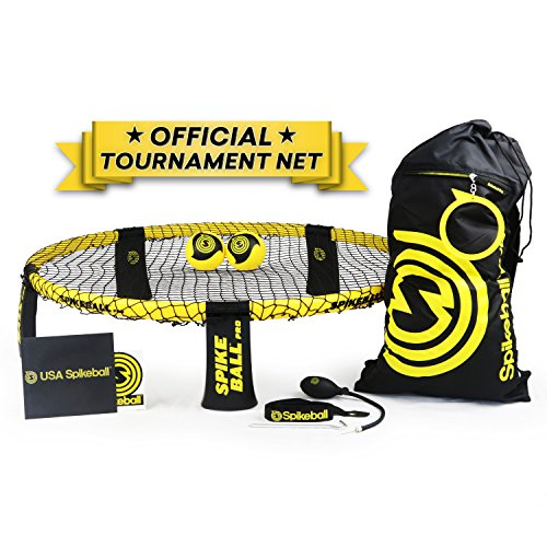 Spikeball Pro Kit (Tournament Edition) - Includes Upgraded Stronger Playing Net, New Balls Designed to Add Spin, Portable Ball Pump Gauge, Backpack, Official Serving Line - As Seen on Shark Tank TV (Portable Dive Tank)