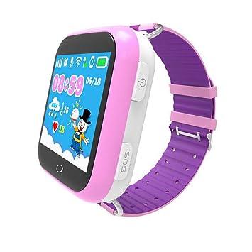 Lu Niños Reloj Inteligente teléfono GPS Tracker Reloj de Pulsera Inteligente para 3-12 años