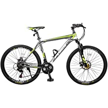 Merax Finiss Aluminum 21 Speed Mountain Bike with Disc Brakes, 26 inch