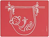 Modern-Twist Baby, Meal-Mat Silicone Placemat, Monkey Business, Red