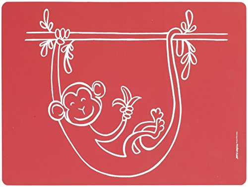 Price comparison product image Modern-Twist Baby,  Meal-Mat Silicone Placemat,  Monkey Business,  Red