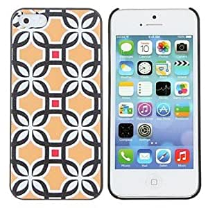 SUMCOM Grid Painting Pattern Hard PC Case for IPhone5/5S