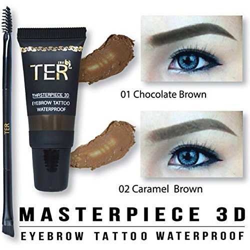 Amazon.com : TER Masterpiece 3D Eyebrow Tattoo Waterproof 01 ...