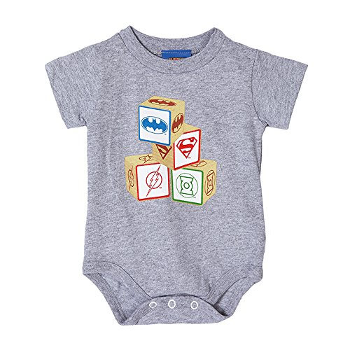 Justice League -- Baby Blocks Infant One-Piece Snapsuit, 6 (Justice League Babies)
