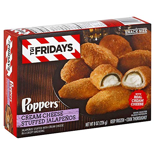 Stuffed Jalapeno Poppers - T G I Fridays Popper Cream Cheese Stuffed Jalapeno, 8 Ounce -- 8 per case.