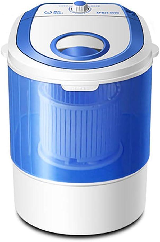 WCY Mini Lavadora, eléctrico Compacto de lavandería máquinas portátiles Diseño Duradero Lavadora de Ahorro de energía, regulador Giratorio y Lavadora-Secadora Vuelta con la Manguera, Negro yqaae