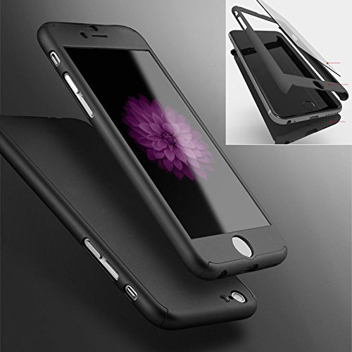 ae552a4e409 iPhone 6 Plus 6s Plus Full Body Hard Case-Aurora Black Front - Import It All