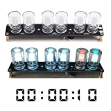 WHDTS LED Chromatographic Glass Clock DIY Kit 10mm RGB LED Flashing Lamp Gradient Color Decorative Lights for Soldering Practice Electronics Learning & Decoration (Color: Chromatographic Glass Clock)