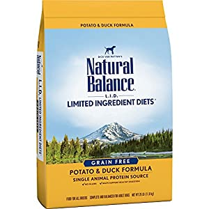 Natural Balance Limited Ingredient Diets Potato & Duck Formula Dry Dog Food, 26 Pounds, Grain Free 45