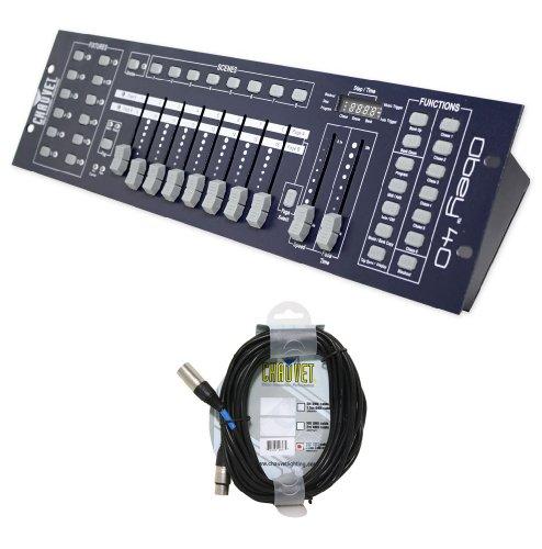 (Pacakge: Brand New Chauvet Obey 40 Universal Dmx 512 Controller with 192 Channels and Midi Compatibility + Chauvet Dmx3p25ft Dmx Xlr Female to Male Dmx Cable)