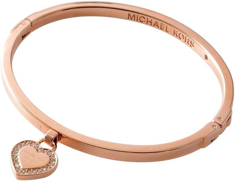 1f0ce0c29b4a Amazon | [マイケルコース] MICHAEL KORS MKJ5039791 MK Logo パヴェ ハートチャーム バングル ブレスレット  [並行輸入品] | バングル 通販