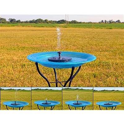 Backyard Essentials Floating Solar Birdbath Bubbler: Toys & Games
