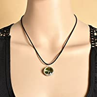 ERAWAN Green Lucky Shamrock Four Leaf Clover Glass Friends Family Gift Pendant Necklace EW sakcharn (#2)