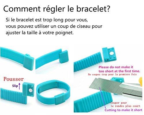 JSDDE Hommes femmes Caoutchouc Montre LED Date Bracelet Poignet Numérique Montre de sport