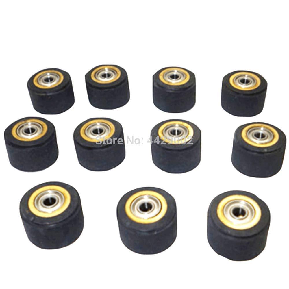 Fevas 10pcs 3mmx11mmx16mm Pinch Roller Vinyl Plotter Cutter Cutting Engraving Machine Printer Parts Paper Feed Wheel Cutting Plotter