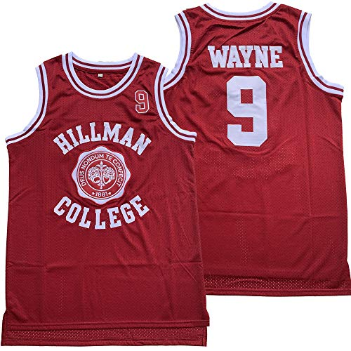 Dwayne Wayne #9 A Different World Hillman College Theater Basketball Jersey(Red, ()