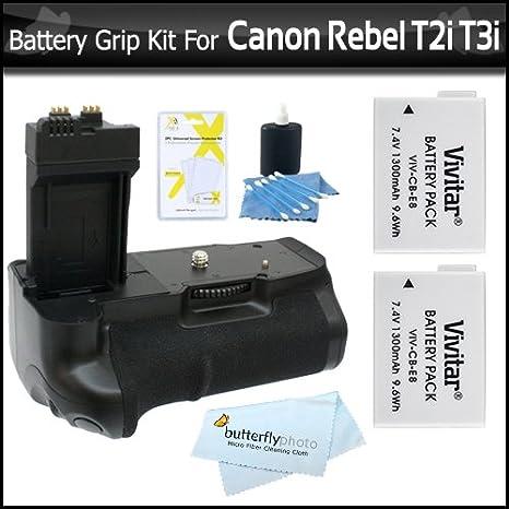 Photive ph-bge8 empuñadura de batería con 2 pilas LP-E8 de ...