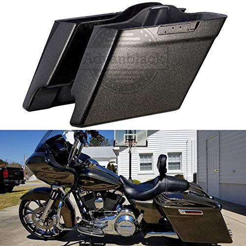 - Advanblack Hard Candy Black Gold Flake 4 1/2 inch Extended Saddlebags Stretched Hard Saddlebags Bottoms For Harley Road Glide Special Street Glide Special 2017