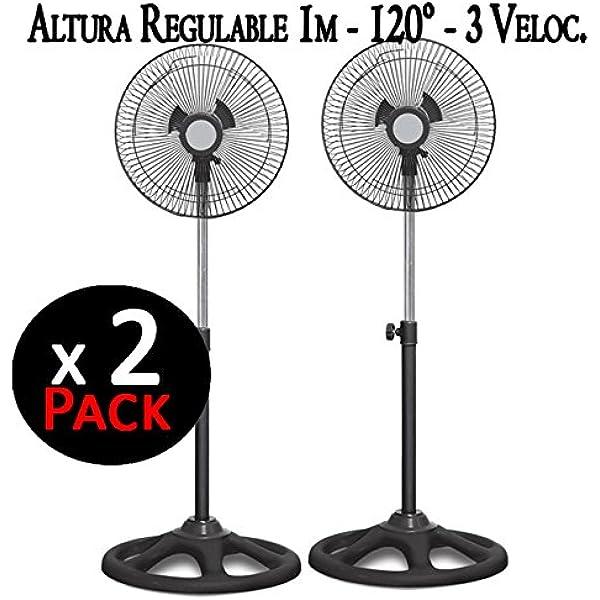 "Suinga. Pack 2 x Ventilador DE PIE DE 16"". Altura Regulable"
