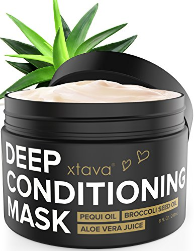 Xtava Deep Conditioning Mask Hair Treatment for Dry Damaged Hair - 8 Fl.Oz Nourishing Restorative Leave In Conditioner to Repair Split Ends and Damage - Hair Mask Hydrating Moisturizing Cream