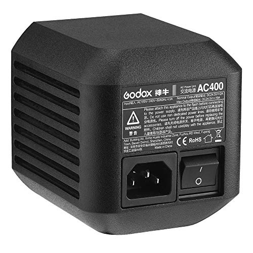 Godox AC400 Power Source Output Power 400W AC Adapter Cable for AD400Pro Flash Strobe,Outdoor Lighting Accessories Input Voltage Range 100V-240V