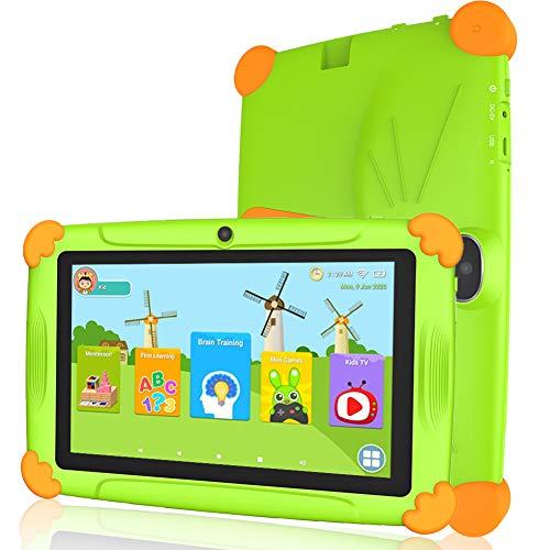 Tablet niños con WiFi 3 GB Ram 32 GO ROM Tablet para niños 7 Pulgadas Android10.0 Google Play y Control Parental…