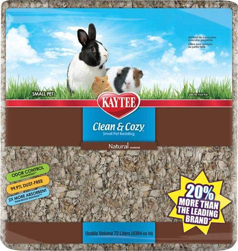 - Kaytee Clean & Cozy Natural Small Animal Bedding, 72L