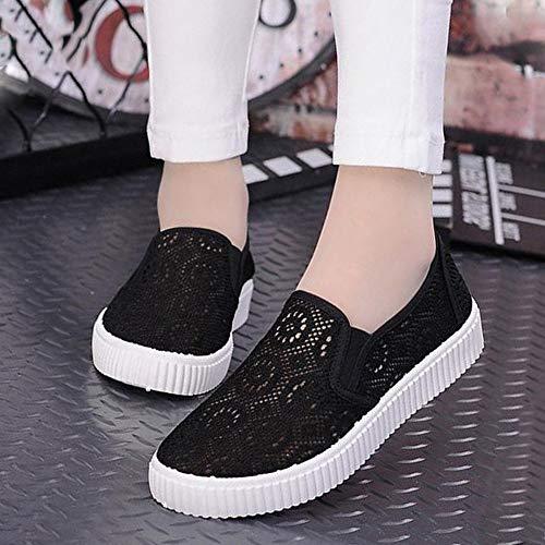 outlet store c3479 18328 Esterno Donna Scarpe Leggero Cava Sneaker Casual Antiscivolo Piatte Ysfu  Basse Da Smorzamento 4Uq5P