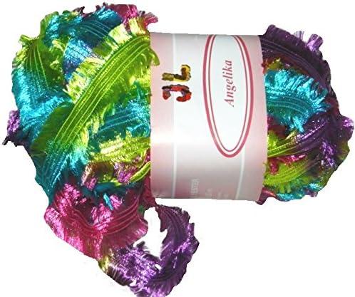 3 balls Fringe Ribbon Angelika shiny yarn YOUR CHOICE