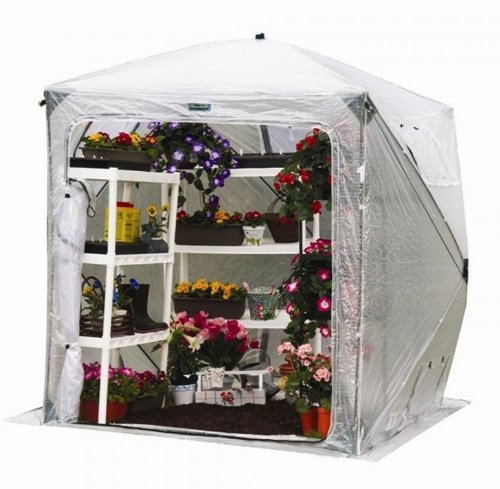 Flower House FHOH400 OrcidHouse Hub Style Greenhouse by Flower House