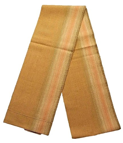 科学者トリッキースローリサイクル 名古屋帯  紬 八寸 縞模様 正絹