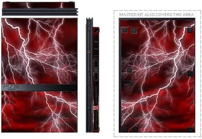 Apocalypse Red Design Decal Skin Sticker for Sony Playstation 2 PS2 Slim