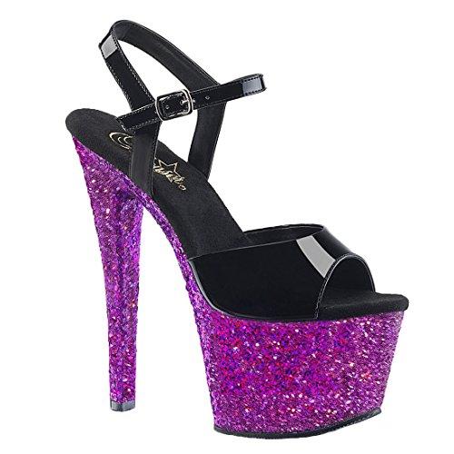 Red Blk Damen Multi Blk Pleaser Pat Glitter Multi Glitter Purple Pat Sandalen Schwarz q6YwwdX8