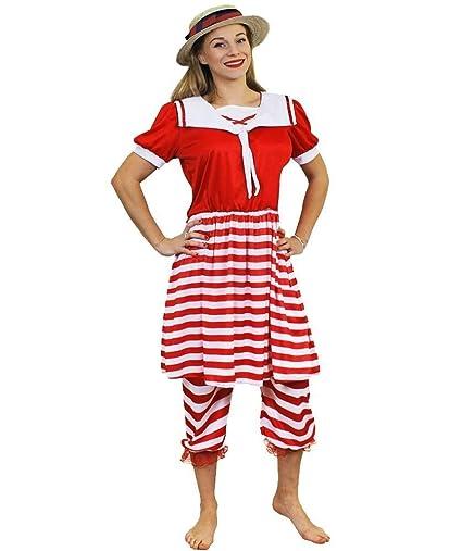 ILOVEFANCYDRESS Disfraz DE BAÑISTA DE LOS AÑOS 20 para Mujer Conjunto TEMATICO para Mujer con Camisa, Pantalones Y Sombrero Fiestas TEMATICAS O ...