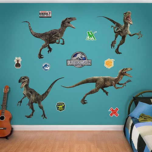 - FATHEAD Raptor Collection: Jurassic World - X-Large Officially Licensed Removable Wall Decals