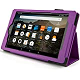 Case for All-New Fire HD 8 2017 / 2018 - Premium Folio Case for All-New Fire HD 8 Tablet with Alexa 7th / 8th Generation (Purple)