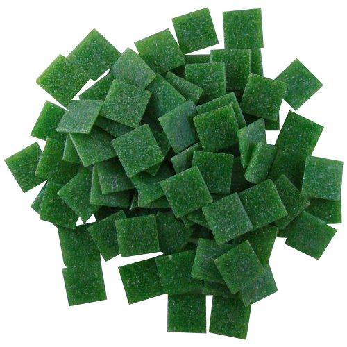 - Jennifer's Mosaics 8-Ounce Dark Green 3/4-Inch Venetian Style Glass Mosaic Tile, Dark Green