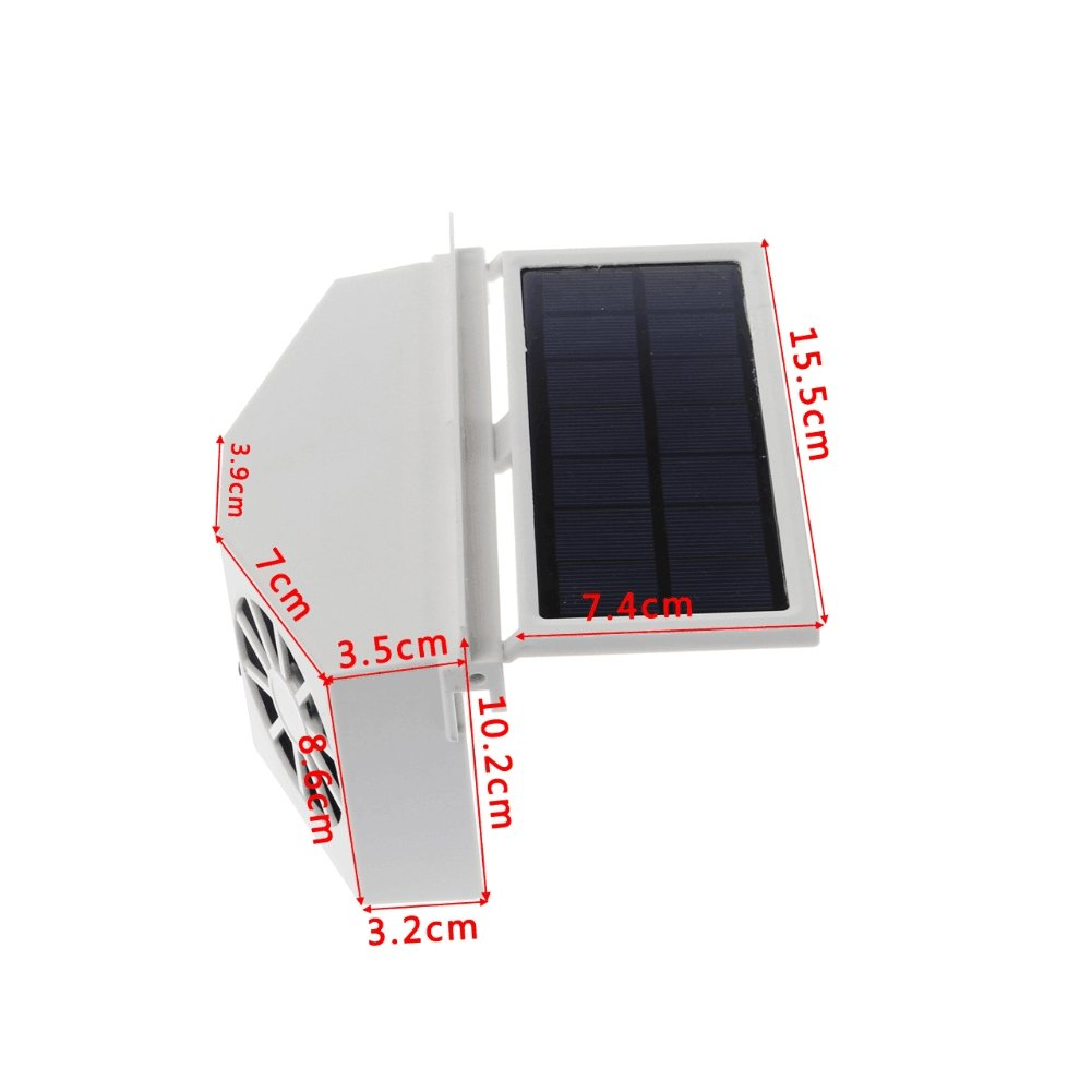 Ivory Solar Powered Dual Fan Car Front Rear Window Air Vent Cool Cooler Fan Windshield Fan