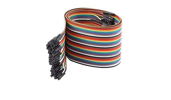 Amazon.com: eDealMax hembra a la Cinta de alambre Mujer 40P Cable de Puente Pi Pico de tablero de bricolaje 50 cm de Largo: Electronics