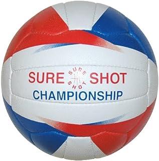 Sure Shot Championship Ballon de netball fille taille 5(Blanc/bleu/rouge)