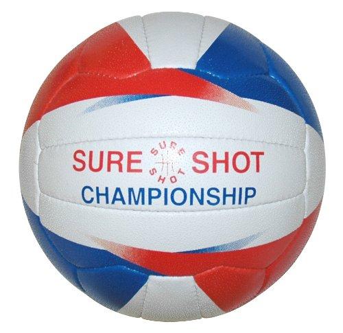 Sure Shot Championship Ballon de netball fille taille 5(Blanc/bleu/rouge) 340N911A