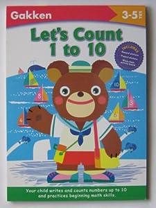 Paperback Let's Count 1 to 10 (Gakken Workbooks) Book