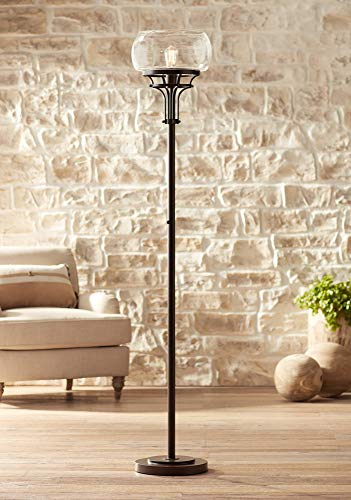 (Franklin Iron Works Luz Torchiere Floor Lamp - Franklin Iron)