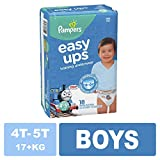 Pampers Easy Ups Diapers Size 6 (4T-5T), Pull On Disposable Training Diaper for Boys, JUMBO PACK, 18 Count