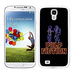 Funda carcasa para Samsung Galaxy S4 diseño fiction fondo negro borde blanco