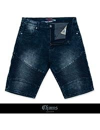 Men's Fashion 5 Pocket Stretch Denim Jean Knee Shorts