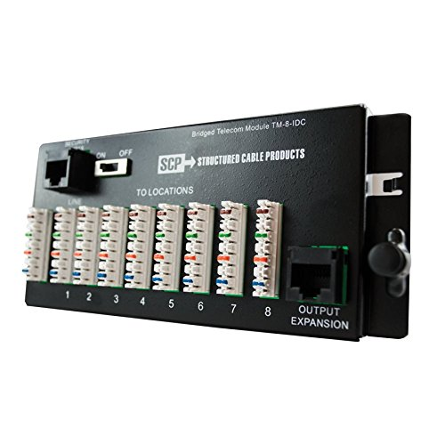 (8 WAY TELECOM MODULE IDC TYPE - 1 EA/BOX Distributed by NAC Wire and)
