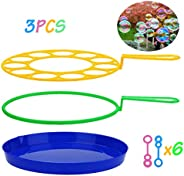 B bangcool Bubble Wands Set - Big Bubbles Wand Funny Bubbles Maker, Nice for Outdoor Playtime & Birthday P